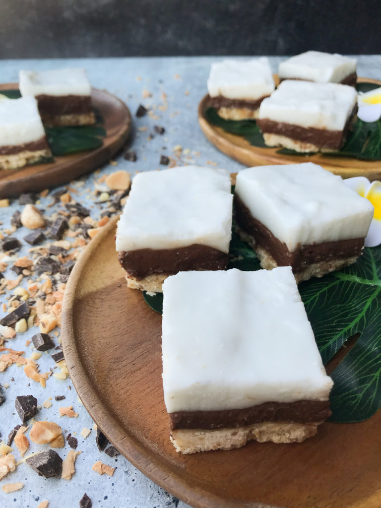 hawaiian chocolate macadamia coconut haupia bars