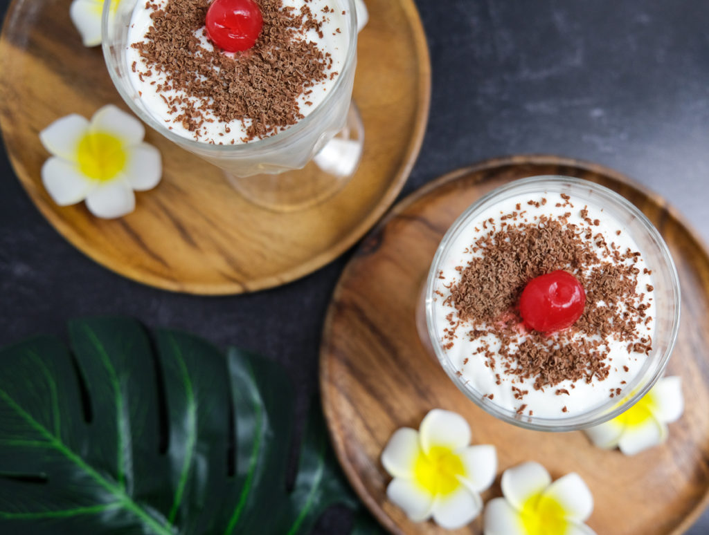 easy coconut pudding made with pantry items