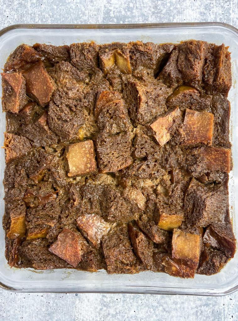 irish coffee bread pudding with brown sugar whiskey sauce