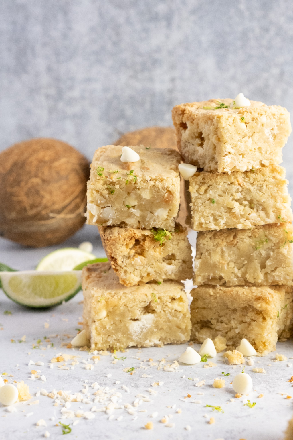 lime coconut macadamia blondies