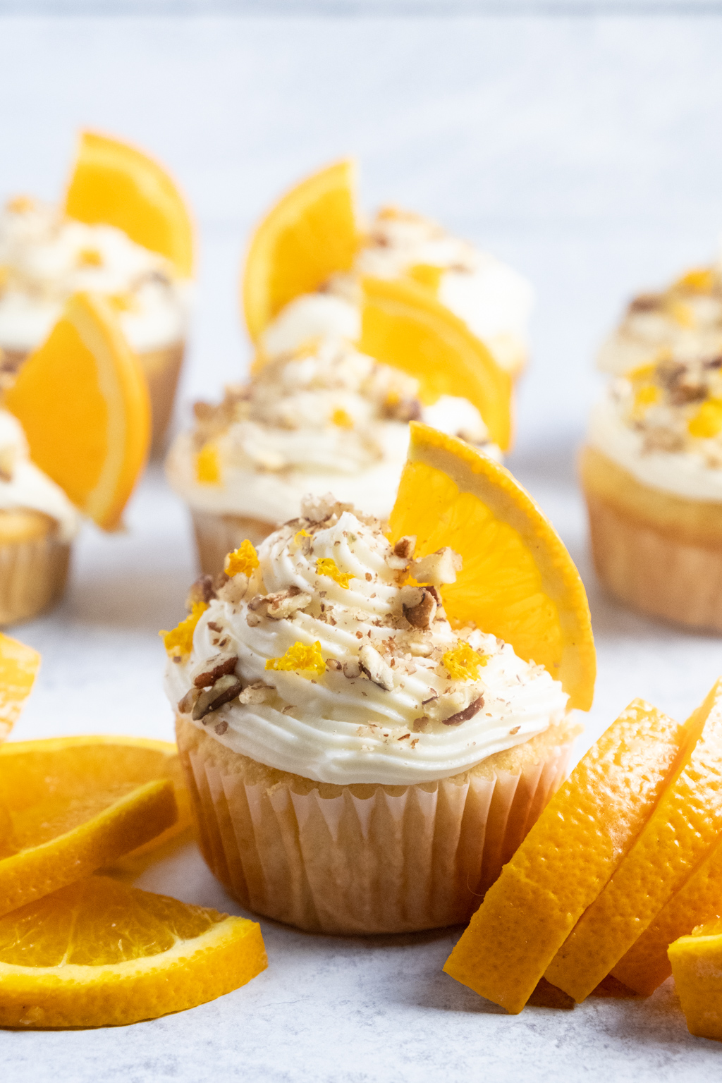 pineapple orange cupcakes with cream cheese frosting
