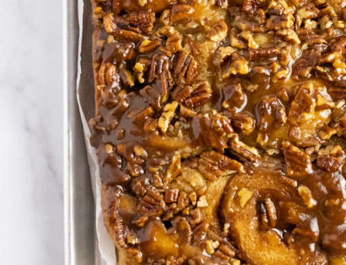 Maple Bourbon Pecan Caramel Rolls