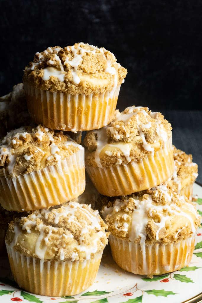 bourbon eggnog muffins with brown sugar streusel