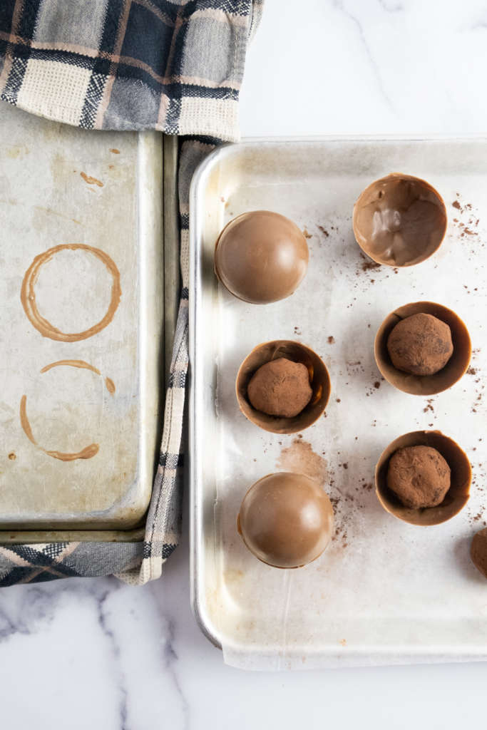 irish coffee hot chocolate bombs