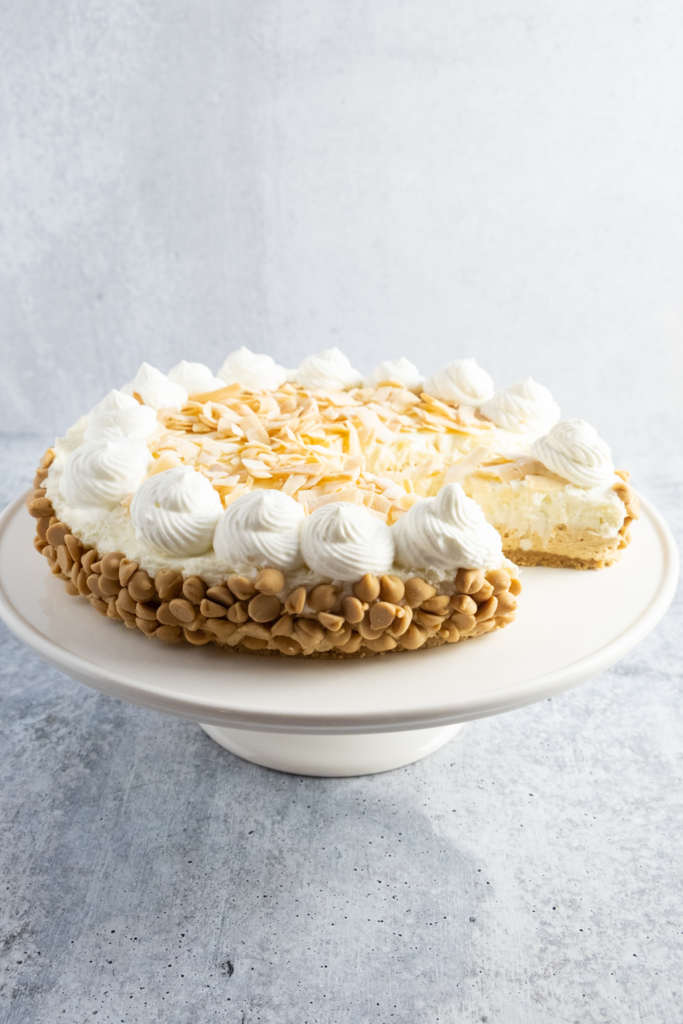 No-Bake Peanut Butter Coconut Cheesecake